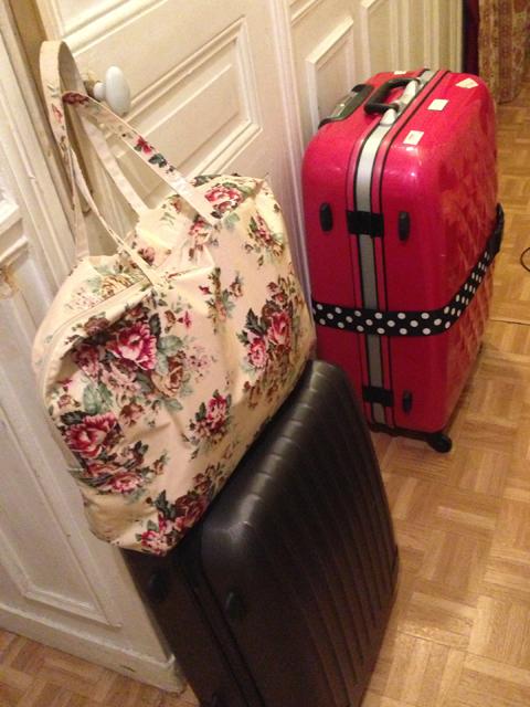 前日:荷物に悩む