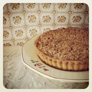 Tarte crumble aux pommes / りんごのクランブルタルト