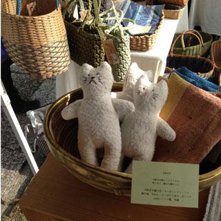 ayumqさんの手紡ぎ木綿と竹製の紙